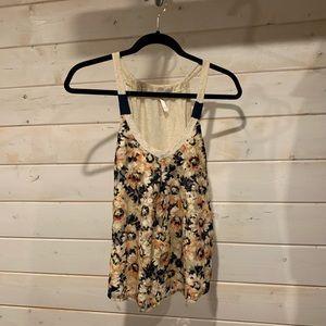 4/$30 Xhilaration   Floral Lace Tank